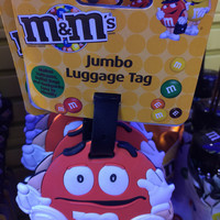 M&M's World Orange Jumbo Luggage Backpack Tag New with Tags