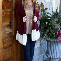 Love the Wine Your With Cardigan
