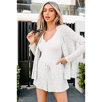 Relaxed To The Max Knit Open Front Cardigan (Sage)