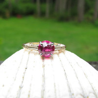 Lovely Vintage 14K Gold Ruby Ring - Fine Maker Jabel - Luscious Colored Natural Ruby - Sweet Old Box