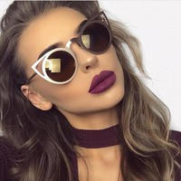 Katerina Oversized Metal Cateye Sunglasses