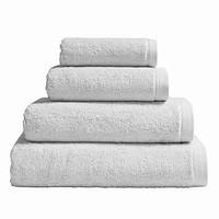 Essentiel Light Grey Bath Towels by Alexandre Turpault