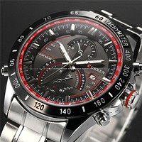 Mens Watches Top Brand Luxury Analog Display Stainless Steel Watches Men Quartz-Watch Curren Watch Male 8149 Montre Homme 2016