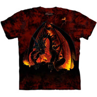 New FIREBALL DRAGON The Mountain T-Shirt S-3XL