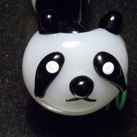 Mr. Panda glass pipe art!