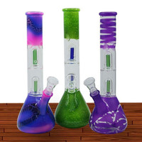 "12"" DOUBLE DOME ASSORTED DESIGN & COLOR WATER PIPE -PP5SERIES"