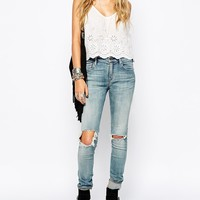 Denim & Supply By Ralph Lauren Skinny Jeans With Busted Knees