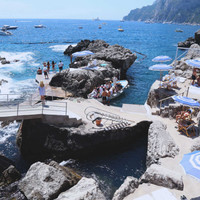 La Fontelina Beach Club, Amalfi Coast, Capri Boating, Italian Photography, Beach Art, European Coast