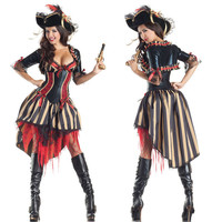 Purple Pirates of the Caribbean Costume Female Pirate Fancy Dress Costumes Pirates Costumes for Halloween