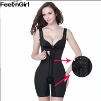 Plus Size XS-5XL Hot Body Shaper Underbust Women Shapewear Waist Trainer Latex Belt Women Waist Cincher+Slimming Thigh-5A7