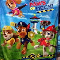 New Paw Patrol Blanket Silky Soft Throw Nickelodeon Chase Marshall Rubble Kid Winter Blankets