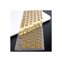TopCase METALLIC GOLD Keyboard Silicone Cover Skin for Macbook 13-Inch Unibody (A1342/WHITE) with TOPCASE Mouse Pad