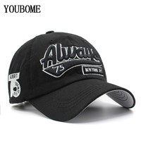 Trendy Winter Jacket YOUBOME Baseball Cap Hats For Men Trucker Brand Snapback Caps Women MaLe Vintage Embroidery Casquette Bone Always Dad Hat Caps AT_92_12