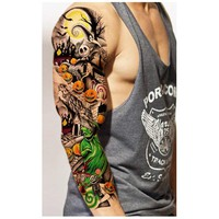 3pcs Waterproof Temporary Tattoos Sleeve Body Art Men Women Colorful Fake Tattoo Paper Tattoo Sticker Arm Stockings Fake Tattoos