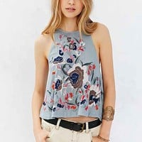 Kimchi Blue Embroidered 360 Tank Top- Blue