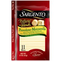 Sargento Natural Blends Provolone-Mozzarella Cheese Slices, 11 count, 7.5 oz - Walmart.com