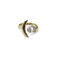 Moon And Back Ring - Gold