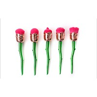 Set of new creative beauty tools 5 rose makeup brush