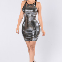 Share The World Dress - Silver