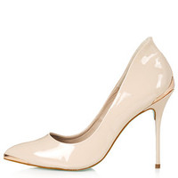 **High Pitch Pointed Heels by CJG - Nude