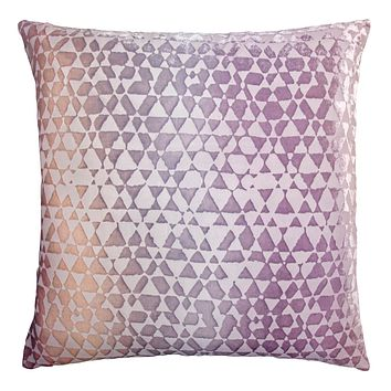Opal Triangles Velvet Pillow by Kevin O'Brien Studio