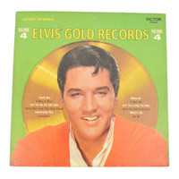 Vintage 60s Elvis Presley Elvis' Gold Records Volume 4 Album Record Vinyl LP