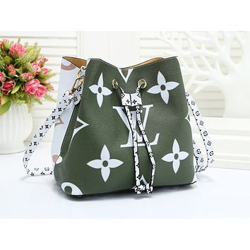 LV hot selling lady's casual shopping bag fashion printed patchwork color shoulder bag #3