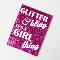 Girl Thing Plaque  | Claire's
