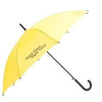 """Yellow Umbrella with """"Right Place - Right Time"""" Logo From How I Met Your Mother"""