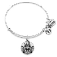 Sleeping Beauty Castle Bangle by Alex and Ani - Disneyland - Silver | Disney Store