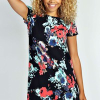 Carley Floral Print Shift Dress
