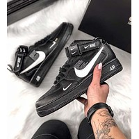 Nike Air Force 1 '07 Popular Casual High-Top Sport Running Shoes Sneakers Black