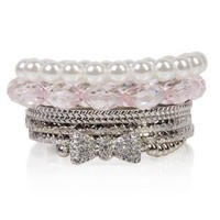 bangles set with stone bow - debshops.com