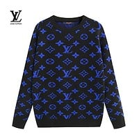 LV Louis Vuitton New Fashion Casual Letter Print Long Sleeve Sweater 2#