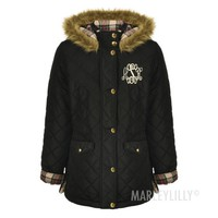 Monogrammed Quilted Coat | Marleylilly