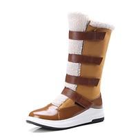 Mid Calf Snow Boots Winter Shoes for Woman 4574