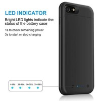 ESBGQ6 iPhone 7 Battery Case & iPhone 8 Battery Case| iPosible 4500mAh Ultra Slim Extended Battery Backup Case Charger Pack Power Bank for iPhone 7 8 (4.7inch)-Black