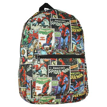 Bioworld Spiderman Comic Book Style All-Over Print Backpack