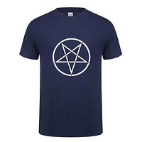 Summer Style Satan Cotton Men T Shirt Short Sleeve Cool Printed T-shirt Satan Men Clothing Tops