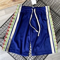 GUCCI Summer New More Letter Print Shorts Blue