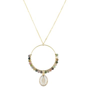 Wrapped Beaded Necklace- Fj