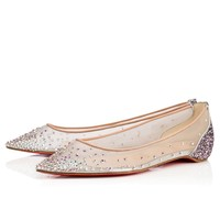 Follies Strass Flat Version Ronsard Strass - Women Shoes - Christian Louboutin