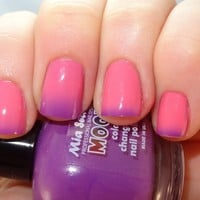 Mia Secret Mood Nail Lacquer Color Changing Nail Polish Purple to Pink