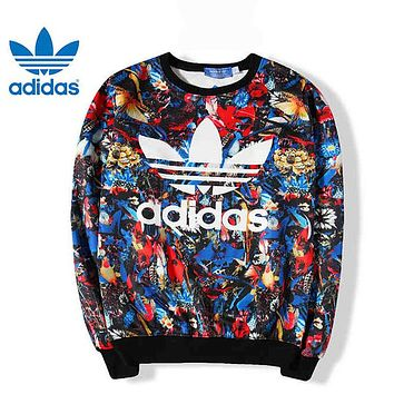 ADIDAS Casual Fashion Print Top Sweater Pullover