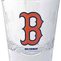 GLRS01 Shot Glass Satin Etch Red Sox