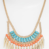 Stephan & Co. Exotic Spike Statement Necklace   Nordstrom