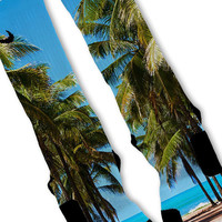 Fast Shipping!! Nike Elite Socks Customized South Beach Miami Custom Nike Elite Socks