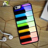 Colorful Piano Keys Cute Rainbow iPhone 6S case by Avallen