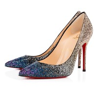 Christian Louboutin Cl Decollete 554 Strass Version Multi Strass Special Occasion 3160732cma3