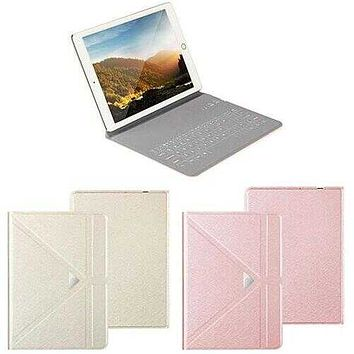 Ultra Thin Apple iPad Case With Touch Sensor Surface Keyboard And Stand -Size: iPAD Air 1/2/3, Color: Rose Gold